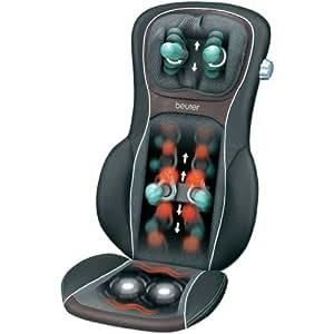 Beurer MG290 Shiatsu Back and Neck Massage Seat Cover HD Black