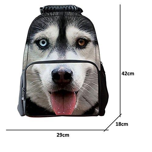 Imagen de niños niñas 3d perro animales print   bolso de escuela, talla única, siberian husky alternativa