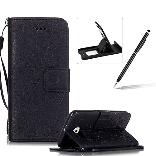 for-samsung-galaxy-s6-strap-lanyard-leather-pu-floral-wallet-caseherzzer-magnetic-flip-case-with-kic