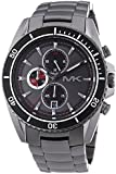 Michael Kors XL Men's Quartz Watch with Black Dial Chronograph Display and Silver Stainless Steel MK8340