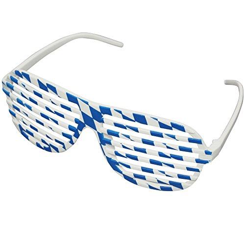 Preisvergleich Produktbild Oramics Gitter Brille in Weiss Blau Bayern Look - Der Must Have Trend Accessoires für das Oktoberfest 2015!