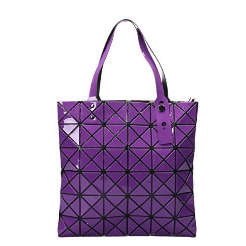 Frauen Paket Geometrische Umhängetasche Handtasche Purple