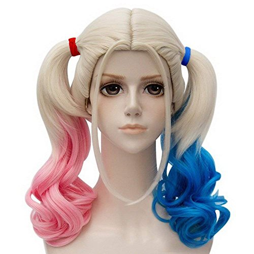 Ani · lnc parrucche di media lunghezza cosplay ad alta temperatura in fibra sintetica capelli