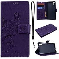CE-Link für Sony XZ Handyhülle Hülle Ledertasche Schutzhülle Leder Huelle mit Lila Schmetterling Blumen Stand... preisvergleich bei billige-tabletten.eu