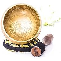 Silent Mind ~ Bol Chantant Tibétain ~ Mantra en Bronze ~ Génial pour la méditation, la relaxation, le stress et le soulagement de l'anxiété, guérison des chakras, yoga, zen, ~ Cadeau spirituel parfait