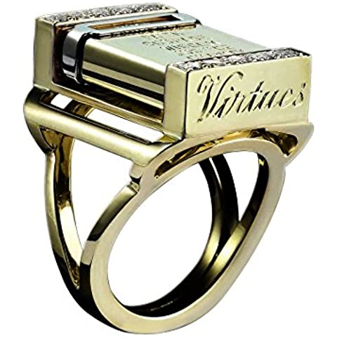 Solange Azagury Partridge Vices & Virtues - Anello in oro giallo 18 ct e diamanti