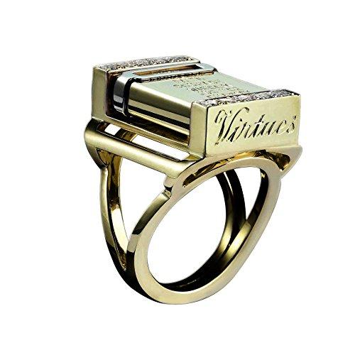 Solange Azagury-Partridge Anello da Donna Oro Giallo 18 carati Diamante Bianco Rotondo - Misura 56 (17.8)