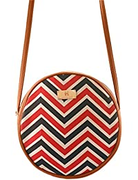 Women's Sling Bag (Tan And Multi Colour)