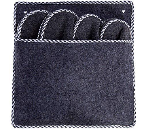 Premium Gästepantoffel grau | 4er Set | Gästehausschuhe | Pantoffeln | Hausschuhe | Filzpantoffel
