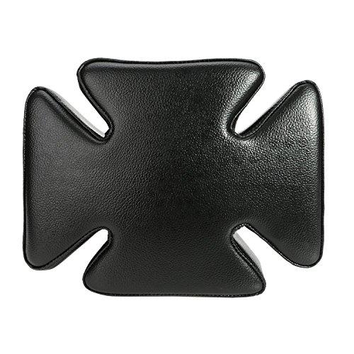 Preisvergleich Produktbild Zantec Motorrad-Solo-Sitzkissen pillion mit Retro-Kreuz-Design im Sitzen mit 5mit Saugnapf für Harley, schwarz
