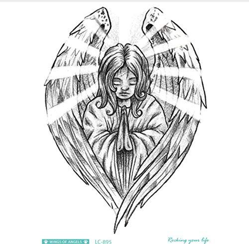 ruofengcp Body Art Halloween Sketch Engel Große Jesus Wolf Weihnachten Tattoo Aufkleber Designer Temporäre Flash Tattoo Aufkleber (Tattoo Halloween Flash Art)