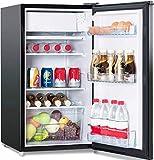 COSTWAY Kühlschrank mit Gefrierfach Standkühlschrank Gefrierschrank Kühl-Gefrier-Kombination/A+ / 91L / Schwarz