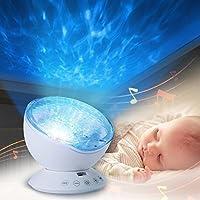 Lámpara Océano Luz de Proyector, Infreecs Lámpara de Proyección Romántica Luz Nocturna Dormitorio para Niños, Bebés , Regalos de la Niños - la Más Nueva Generación [Clase de eficiencia energética 1]