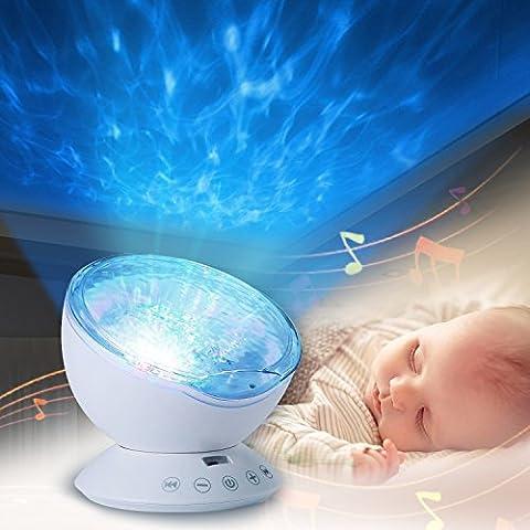 Projektor lampe, Infreecs Ozeanwelle Projektor Licht Schlaf Nachtlicht Lampe 12