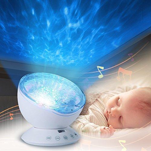 Luce Proiettore, Infreecs Lampada di Illuminazione Notturna Oceano Luce con MP3 Altoparlante notturna per Bambino,Compleanno, Halloween, Natale