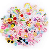 Slime Charms Cute Set - Scoolr 120pcs Charms for Slime Assorted Fruits Candy Sweets Flatback Resin Cabochons for Craft Making, Ornament Scrapbooking DIY Crafts