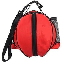 fvstar impermeable bolso de mano bolsa de transporte bolsa de baloncesto, fútbol, voleibol caso con correa de hombro ajustable, Rojo