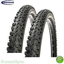 2 x Schwalbe Black Jack Neumático de la bicicleta Cubierta Negro 26 x 2,10 - 54-559 - 01022613S2
