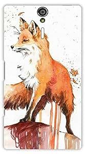 Crazy Beta FOX ART DESIGN Printed Back Cover for Sony Xperia S