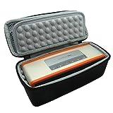 VPOWER® Tragetasche Schutzhülle Hülle Case für Bose SoundLink Mini 1+2 Bluetooth Lautsprecher Wireless Speaker mit gepolstertem Innenfach und doppeltem Reißverschluss in Schwarz