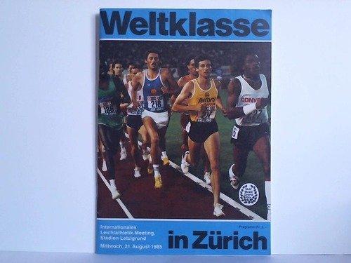 Programmheft des Internationalen Leichtathletik-Meetings, Stadion Letzigrund, (Mittwoch, 21. August 1985)