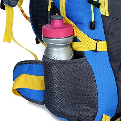 Sacchetto di alpinismo HWJF 40L borsa impermeabile del sacchetto di corsa del nylon dello zaino di svago delle spalle delle spalle , Orange yellow Schwarz