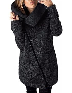 Coversolate La camiseta larga de la cremallera de la capa de la chaqueta con capucha ocasional de las mujeres...
