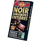 Alter Eco Tablette de Chocolat Noir Amandes Entières Bio et Equitable 200 g