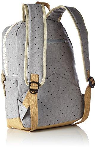 HITOP Vintage Mode Damen accessories hohe Qualität Leinwand Einfache Drucken Punkt Tasche Schultertasche Freizeitrucksack Tasche Rucksäcke (grau) - 2