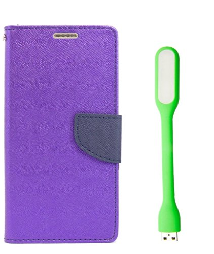 Samsung Galaxy Core 2 GT355 Flip Cover With USB LED Light By Relax And Shop (Orchid Purple+ Colors May Vary In USB Light)  available at amazon for Rs.199
