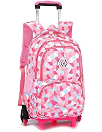 b6408dac8995 BOZEVON Kids Trolley Backpack-Backpacks for Girls School Bags Casual  Daypacks Travel Trolley Backpack with…