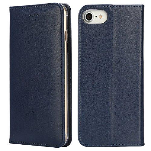 Étuis de portefeuille iPhone Cross Pattern pour iPhone SE 5S 5/6 / 6S / 6Plus / 6S Plus / iPhone 7 / iPhone 7 Plus (Xperia XZ/XZs, BK/BR(Cross)) Blue/E