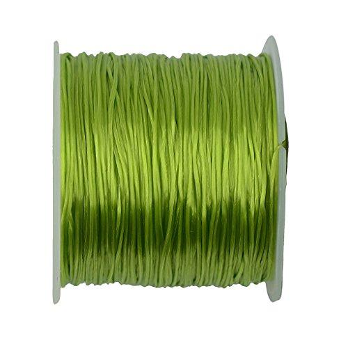 Schmuckfaden Perlenschnur Polyesterkordel Polyesterfaden Polyester Kordel Basteln - Lime Green, XXXL