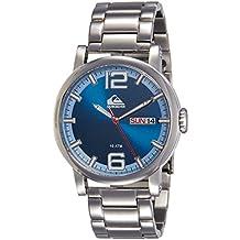 La Sentinel Quiksilver para hombre reloj infantil de cuarzo con azul esfera analógica y plateado correa de acero inoxidable QS/1011dbsv