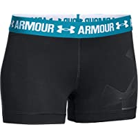 Under Armour - Pantaloncini fitness da donna, tessuto HeatGear, Donna, Oberbekleidung Heatgear Armour Shorty Graphic, nero, M