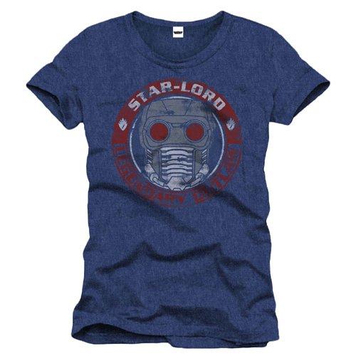 Guardians Of The Galaxy Star-Lord Badge T-Shirt blau meliert Blau Meliert