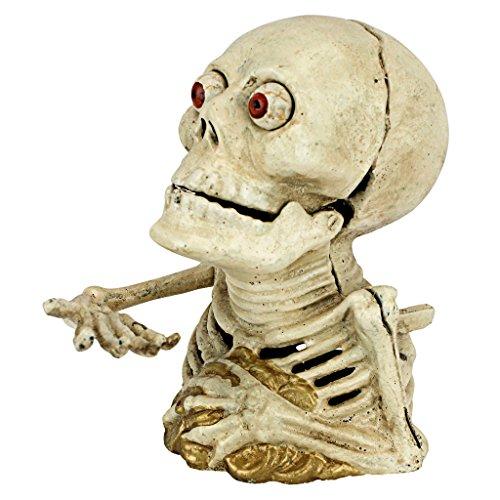 Design Toscano Hungriges Skelett, Mechanische Spardose aus Eisenguss