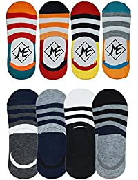 Me Stores Men's Loafer Socks Solid Socks No Show Socks with Silicon Support (Pack Of 8)