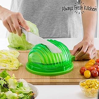 Always Fresh Kitchen Backform für Waschen, Gießen und Schneiden Schnell Salat Quick Salad Maker