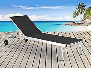 Viva Green - Bain de soleil en aluminium brossé Bella - Seychelles - Noir