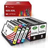 Toner Kingdom 5 Pack Cartouches d'encre Compatible HP 932XL 933XL Pour HP Officejet 6700 7612 7610 7110 6600 6100 Imprimante (2 noir, 1 cyan, 1 magenta, 1 jaune)