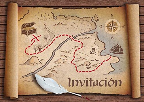 3. Edition Colibri - Invitaciones del Mapa del tesoro