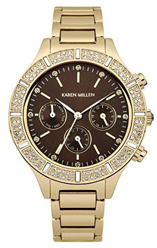 Police. KM103GM - Reloj de cuarzo para mujer, correa de acero inoxidable chapado en oro color dorado