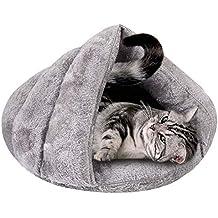 Baffect Saco de Dormir para Cama de Animal doméstico, Cueva de Gato Cama de iglú Suave y cálida Almohadilla de colchón Cojín para Gatos Perros Cachorros ...