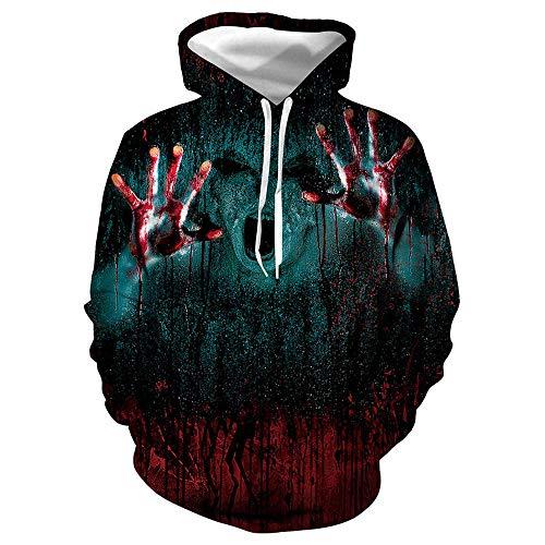 Adult Halloween T Shirts - Halloween T-Shirt Cosplay Horror Blut Hand