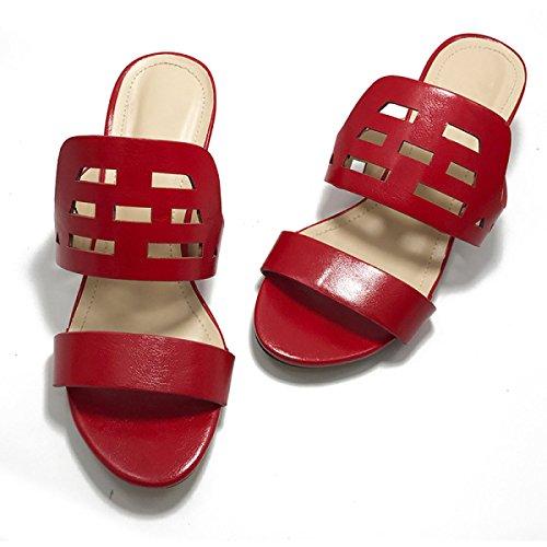 Sandali Signora Pantofole Scarpe Trampolieri Esterni Red