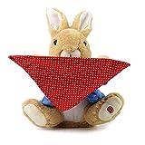 KOBWA Peek A Boo Hase,interaktives spielzeug für kinder,Animiertes Plüschtier,sprechendes Kaninchenspielzeug zum Verstecken und Suchen,elektronische Stofftiere Plüsch-Spielzeug,bestes Geschenk,blau