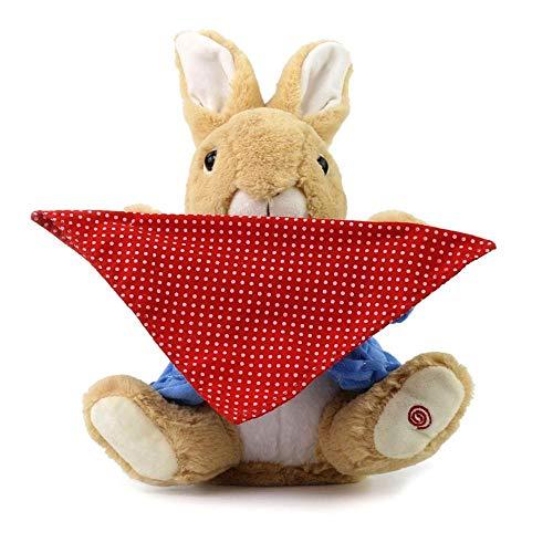 (KOBWA Peek A Boo Hase,interaktives spielzeug für kinder,Animiertes Plüschtier,sprechendes Kaninchenspielzeug zum Verstecken und Suchen,elektronische Stofftiere Plüsch-Spielzeug,bestes Geschenk,blau)