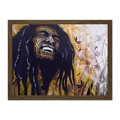 Doppelganger33 LTD Photo Street Graffiti Painting Bob Marley Luke Large Framed Art Print Poster Wall Decor 18x24 inch Supplied Ready to Hang