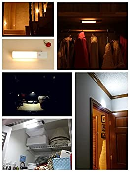 Zeefo 2 Pack Pir Motion Sensor Led Night Light, Usb Rechargeable Wireless Intelligent Wall Sconce Light, Stick On Everywhere 3 Modes Auto On Off For Baby Room Closet, Cabinet ,Wardrobe, Hallway, Kitchen, Drawer, Shed (White) 6